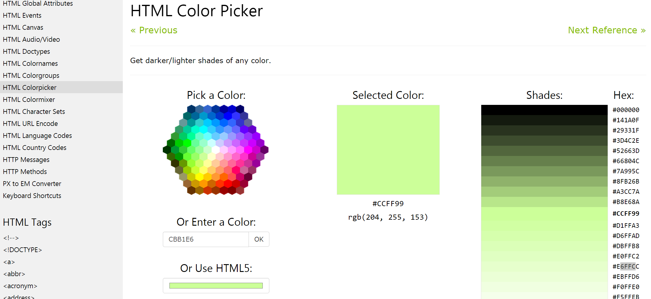 how to get background color in html
