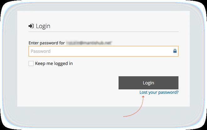 Forgot/Reset Password – MantisHub